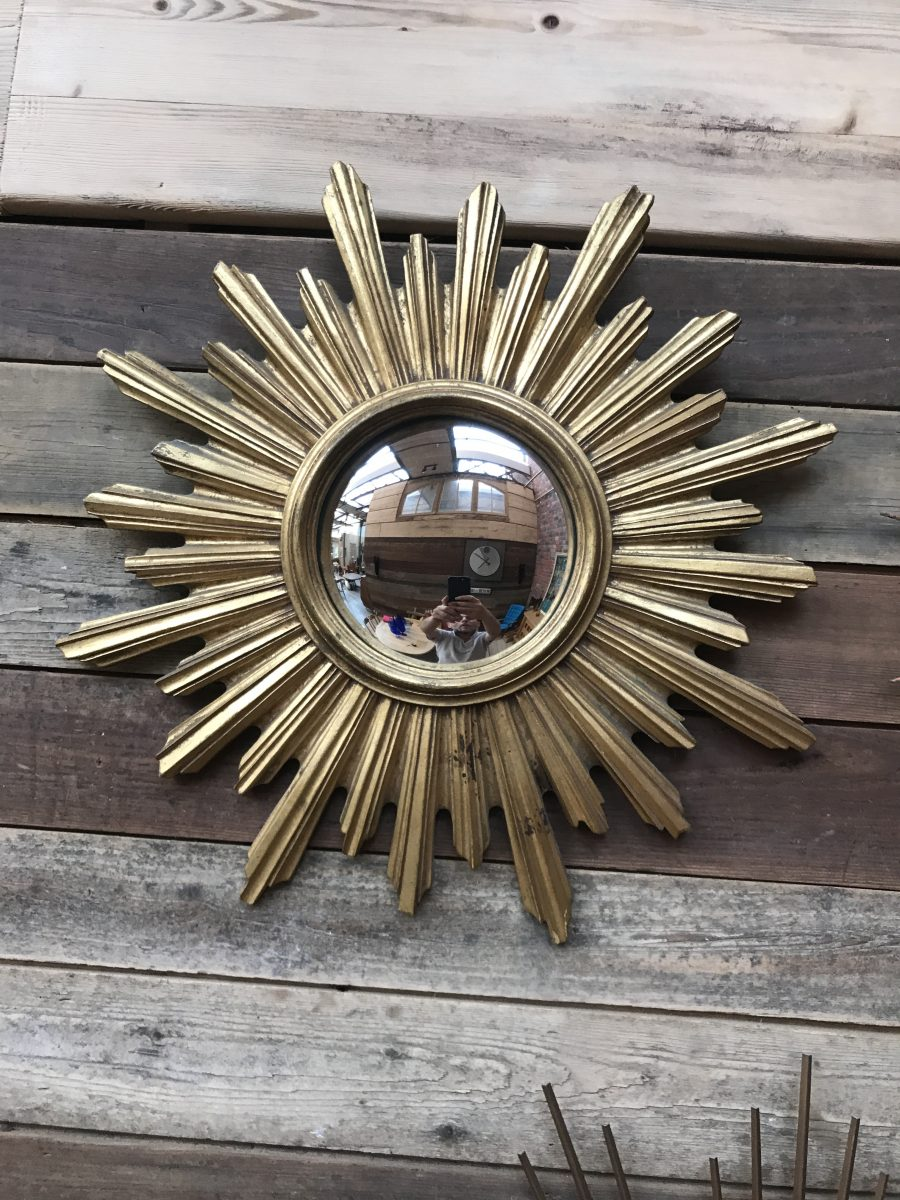 Ancien miroir soleil convexe en bois nord factory for Ancien miroir soleil