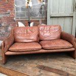 Canapé vintage en cuir De Sede