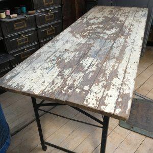 Table industrielle repliable