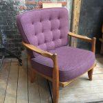Fauteuil violet «José» Votre Maison par Guillerme et Chambron