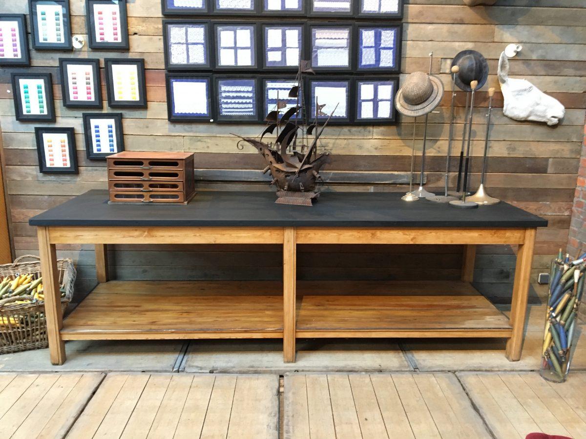 ancienne table de drapier d but xx me nord factory. Black Bedroom Furniture Sets. Home Design Ideas