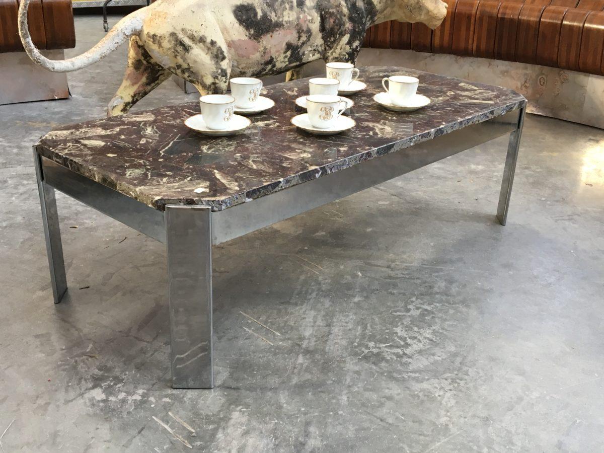 table basse dessus marbre ann es 80 nord factory. Black Bedroom Furniture Sets. Home Design Ideas