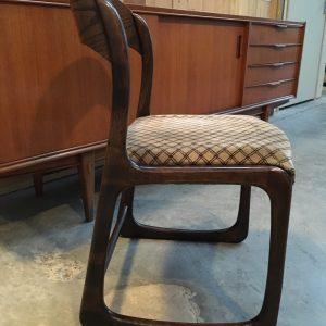 Suite de 5 chaises Baumann modèle «Traineau»