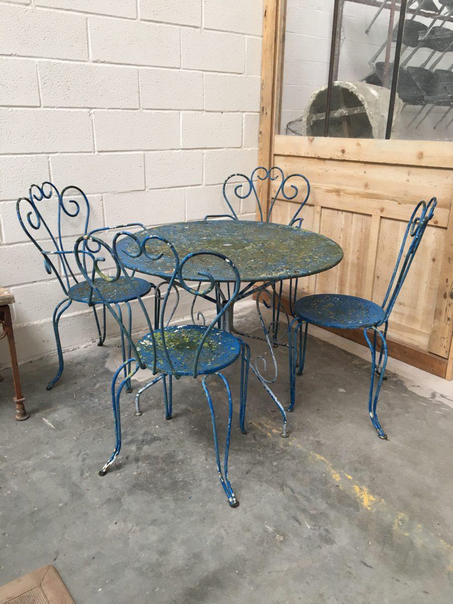 Ancien salon de jardin en fer forgé année 60 - Nord Factory