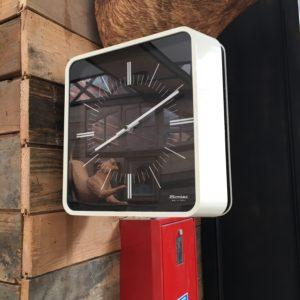 Horloge vintage double face de marque «Bodet»