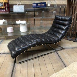 Longchair contemporaine cuir