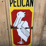 Ancienne plaque émaillée «Pélican»
