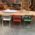 Suite de chaises en métal années 70