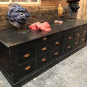 Ancien meuble de métier 14 tiroirs