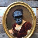Masques de singes en résine