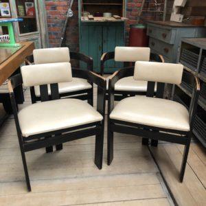 Suite de 4 fauteuils de style art déco