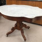 Table Napoléon III dessus marbre