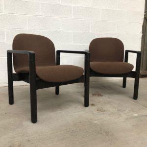 Paire de fauteuils Baumann circa 1980
