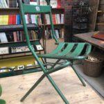 Suite de 20 chaises pliantes en métal
