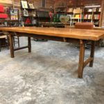 Ancienne table de ferme plateau orme massif