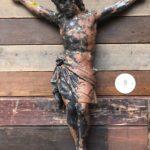 Ancien Christ en terre cuite
