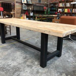 Ancienne table de ferme plateau orme