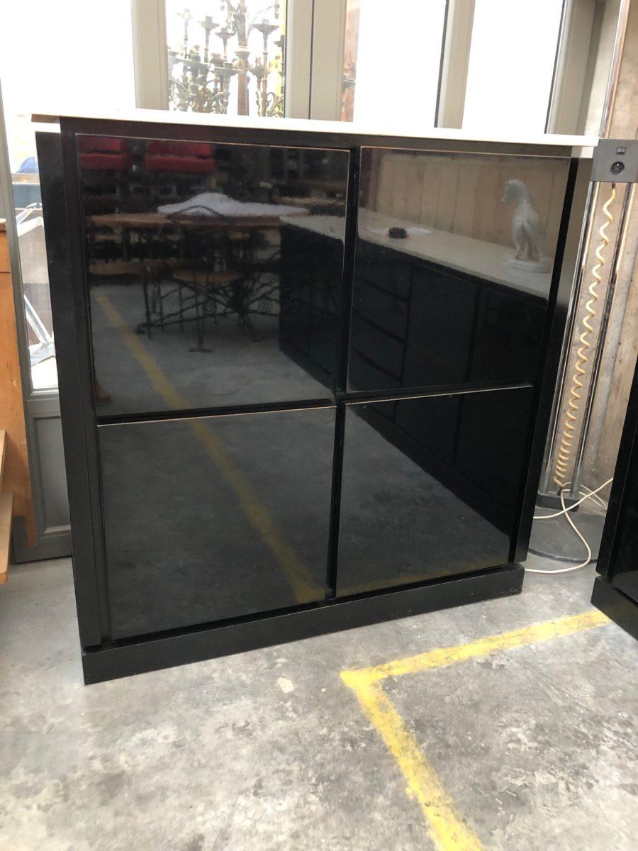 Meuble Bar Laque Noir Annees 80 Nord Factory