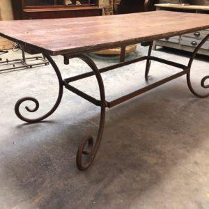 Table console piètement métal