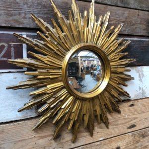 Ancien miroir doré en plâtre