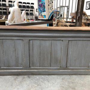 Comptoir de commerce patine grise