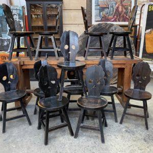 Suite de 45 chaises «Calaveras»