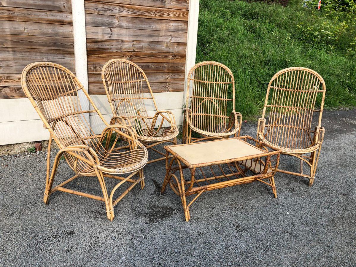 Salon en rotin vintage - Nord Factory