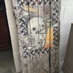 Peintures originales sur planches de coffrage à béton