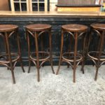 Suite de 4 tabourets de bar