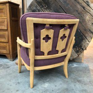 Fauteuil violet «José»  Guillerme et Chambron
