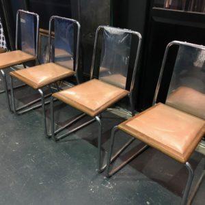 Suite de 4 chaises années 30