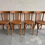Suite de 4 chaises de bistrot