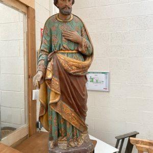 Saint Joseph polychrome XIXème