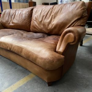 Ancien canapé cuir 3 places