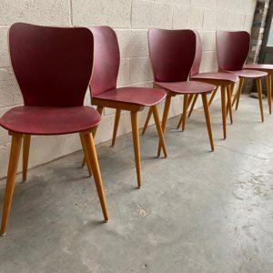 Suite de 6 chaises années 50