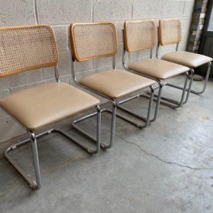 Suite de 4 chaises DLG de Marcel Brauer