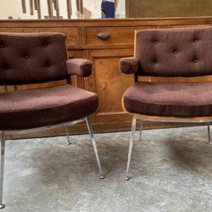 Paire de fauteuils Alain Richard années 70