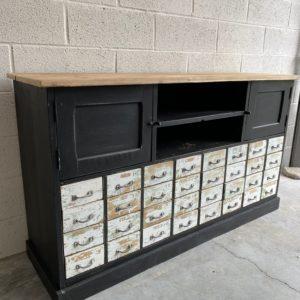 Ancien meuble de métier 32 tiroirs