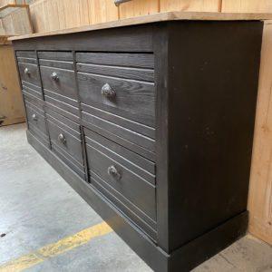 Ancien meuble de métier 6 tiroirs