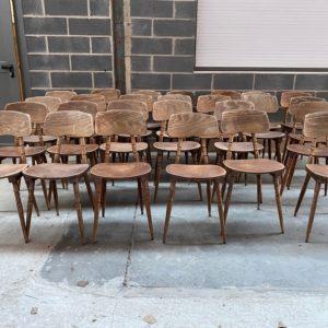Lot de 26 chaises de bistrot