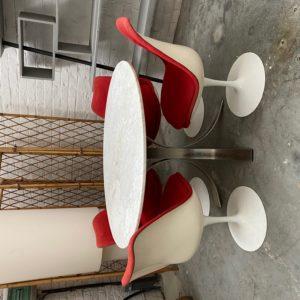 Suite de 4 chaises Knoll années 70
