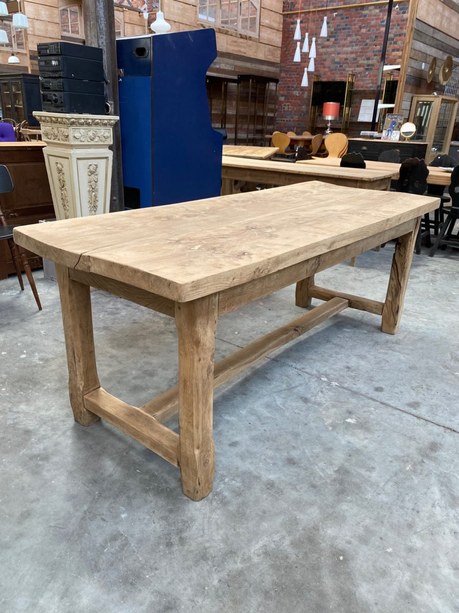 Ancienne table de ferme en chêne   Nord Factory