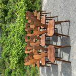 Suite de 14 chaises brutalistes
