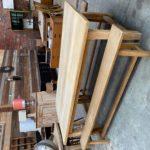 Ensemble table et ses 2 bancs en chêne