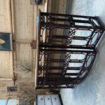 Comptoir fin XIXème en fer forgé