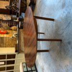 Table modulable 6/8 couverts en palissandre