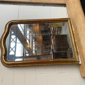 Miroir doré début XXème