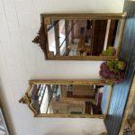 Grand miroir doré début XXème