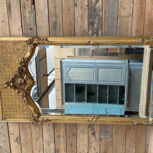 Miroir doré fin XIXème
