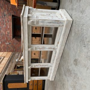 Comptoir vitrine patiné